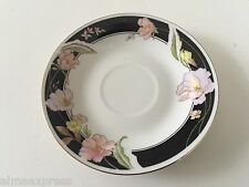 Lynns Fine China / China Pearl ALICE 8860 Lily Black - DEMITASSE TEA CUP SAUCER