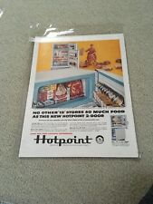 Vintage 1958 Hotpoint Refrigerator Ad