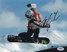 LINDSEY JACOBELLIS HAND SIGNED SNOW BOARDING 8X10 W/ PSA COA AB18988