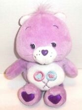 "Share Bear Care Bear Plush 2003 Namco Lollipops with Hears Purple Lilac 13"""