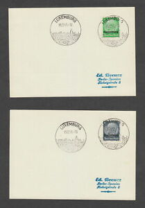 Luxembourg 1941 German occupation cards x 4