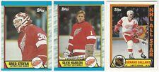 8 1989-90 TOPPS HOCKEY DETROIT RED WINGS CARDS (STEFAN/HANLON/GALLANT+++)