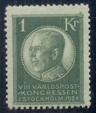 Sweden #209 (208) 1kr green, og, Lh, Vf