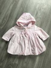 Baby Girls Pink Jean Bourget Coat - Age 3 Months