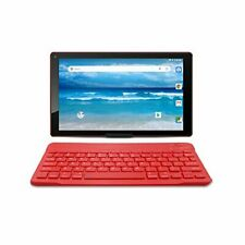 """10.1"""" Android 8.1 Google Tablet With Bluetooth Keyboard & Case Bundle A1046B Red"""