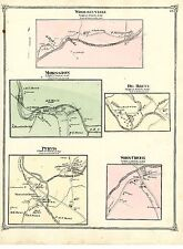 1875 Rockland villages map from Atlas of Sullivan County NY: Purvis Morsston etc