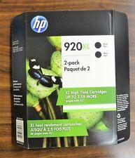 Genuine OEM HP 920XL Black Ink Cartridges 2 Pack EXP 08/2019 CN701BN New Sealed