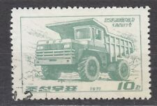KOREA 1971 used SC#995 10ch stamp, Large Machines, Sungrisan heavy truck.