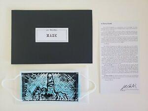 AI WEIWEI MASK SCREEN PRINT LIMITED 2020 MIDDLE FINGER HAND ART INK ORIGINAL