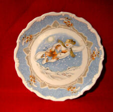 Royal Doulton *Walking In The Air* Plate Snowman Gift Collection Christmas