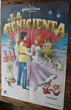 Used Cartel cine  LA CENICIENTA  Walt Disney - Vintage Movie Film Poster
