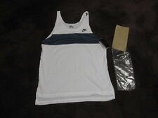 Vtg 1980s NIKE USA Running Track Tank Top Singlet Muscle NV/WH Mens L ONLY ONE