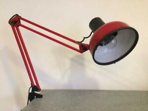 Vintage Finland Dark Red Architect Lamp LAVAL P12- 1980s