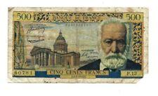 Billets de la banque française 500 francs