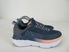 Hoka One One Bondi 6 Indigo Blue Athletic Running Shoes Womens Size 8.5 M
