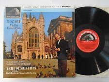 MOZART VIOLIN CONCERTOS No 3 & 5 MENUHIN ASD 473 STEREO VINYL LP 1962 big dog