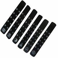 Porta inciensos negros pack 6 madera de sheesham tablita decoración accesorio