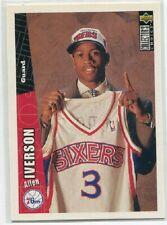 Allen Iverson RC Rookie 76ers 1996-97 Upper Deck CC NBA Card #301 MINT LOT of 10