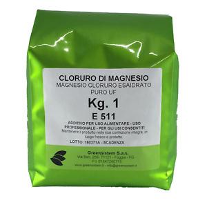 CLORURO DI MAGNESIO KG. 1 - BUSTA E511 - PURO - USO ALIMENTARE