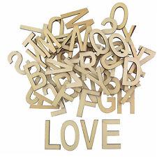 Vintage Holzbuchstaben Buchstaben aus Holz Alphabet ABC 52tlg Basteln Natur Deko