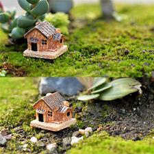 3x micro paisaje decoración pequeñas casas artesanía regalo jardín ornamentos