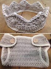 Disfraz Crochet Conjunto  Bebe Recién Nacido Atrezo Fotografía Ganchillo Beige