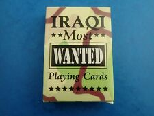 Unopened IRAQI MOST WANTED PLAYING CARDS Saddam Hussein