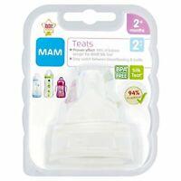 MAM Medium Flow Bottle Teats for use with MAM Bottles  2-pack