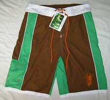 Men's MOODS OF NORWAY Shorts NWT Sailors Stefan Style Green Brown Color Size S
