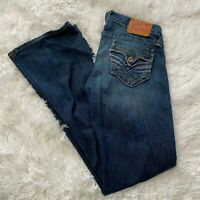 "Lucky Brand Womens Size 2 / 26 Lil Maggie Blue Denim Jeans 32"" Inseam EUC"