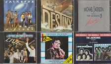 Michael Jackson & The Jacksons - lot de 5 CD + 1 coffret 2 CD