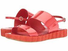 NIB Salvatore Ferragamo Lusia Sandals Coral Patent Leather Size 8