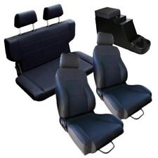 1966-1977 Early Ford Bronco Black Front & Rear Seat Kit & Console w/ hardware