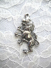 NEW RAMPANT LION SCOTTISH ENGLISH REARING w CLAWS USA PEWTER PENDANT NECKLACE