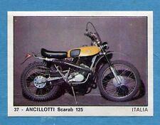 MOTO 2000 - Panini 1972 -Figurina-Sticker n. 37 - ANCILLOTTI SCARAB 125 -Rec