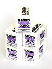 Pellicola 35mm Rullino BN bianco e nero Ilford Delta 3200 135-36 5pz.