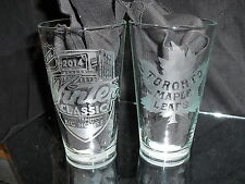 d4e2f453c9b4 2014 NHL Special Edition Winter Classic Toronto Maple Leafs Etched Pint  Glasses