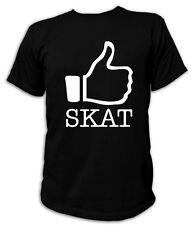 Kult T-Shirt - I LIKE Skat  - S-5XL Kartenspiel Poker Doppelkopf Funshirt
