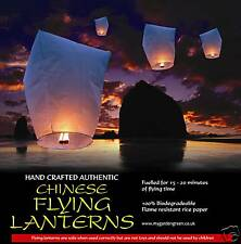 10 x Chinese Sky lanterns Khoom Fay UK seller, (white)