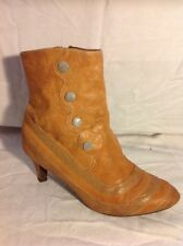 Miss L-FIRE Beige Ankle Leather Boots Size 38