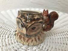 RARE JOHN BESWICK BEATRIX POTTER Old Mr. Brown Jug-England-Owl and Squirrel