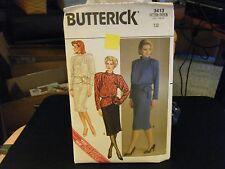 Butterick 3413 Misses Top & Skirt Pattern - Size 12