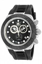 New Mens Invicta 15581 Subaqua Sport Swiss Chronograph Black Rubber Strap Watch