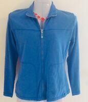 NWT $65 Fresh Produce Active wear Jacket Marine Blue Size Small Zip up pockets