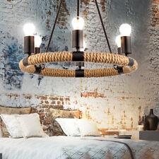 Hanf Seil Kronleuchter Decken Hänge Lüster Wohn Zimmer Beleuchtung Pendel Lampe