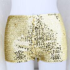 Women's Mini Sequin Paillette Elastic Casual Night Dance Pants Bottoming Shorts