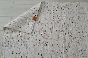 Large White Chindi Rag Rug Handmade Recycled Cotton 240cm x 150cm Hemmed 8ft 5ft