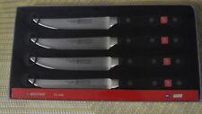 "Wusthof  NEW in box 4 piece set  CLASSIC  steak knife  PEtec #4068/12cm 4.5"""
