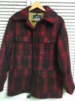 Vintage Woolrich Wool Blend Mackinaw Cruiser Hunting Coat Made In USA Men's 40