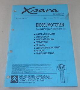 Manual de Taller Citroën Xsara Motor Diesel Stand 09/1997